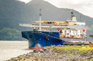 Cargo Ship in Harbour