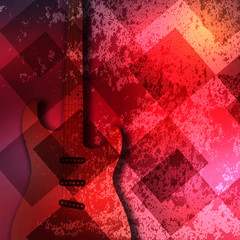 Abstract guitar texture background