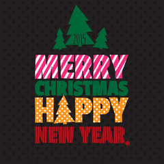Greeting card. Happy new year. Merry christmas.