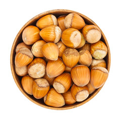 Hazelnuts in pot