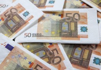 fond de billets d'euros