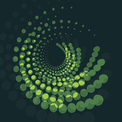 Abstract Swirly Shape - Green Background