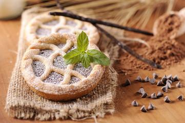 Mini crostata al cioccolato