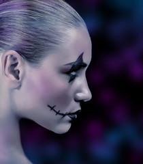 Fashionable zombie girl