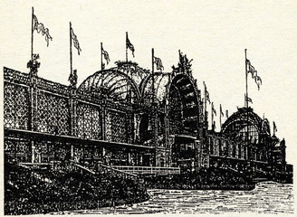 EXPO Paris 1878 - main building