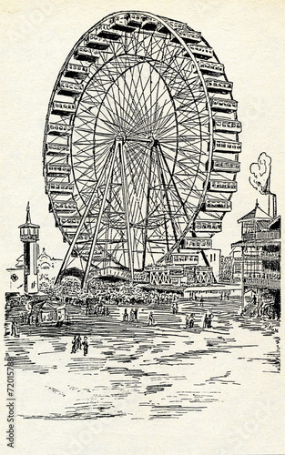 Chicago Exposition 1893 - The Ferris Wheel - 72015788