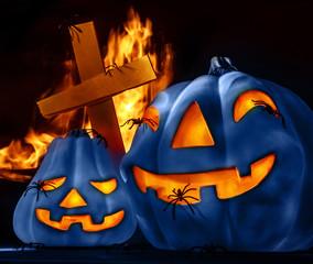 Traditional Halloween decorations