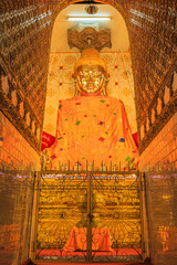 Buddha statue inside the church, Inle lake, Shan state, Myanmar