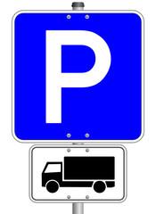 LKW Schild Parkplatz #141023-svg03