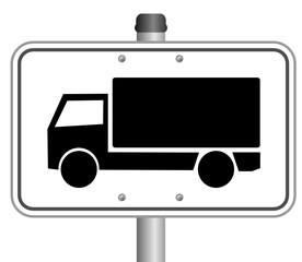 LKW Schild Parkplatz  #141023-svg01
