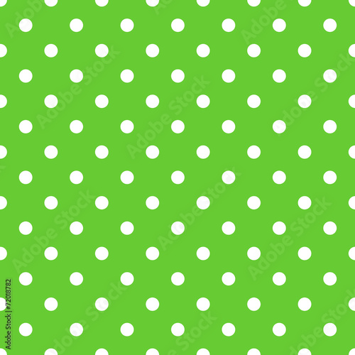 Spoed canvasdoek 2cm dik Kunstmatig Seamless green polka dot background pattern
