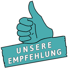 tus116 ThumbUpSign tus-v19 - Unsere Empfehlung - türkis g2216