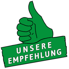 tus117 ThumbUpSign tus-v19 - Unsere Empfehlung - grün g2217