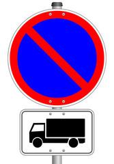 LKW Schild Parkverbot  #141023-svg05