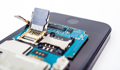 disassembled smartphone