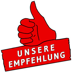 tus118 ThumbUpSign tus-v19 - Unsere Empfehlung - rot g2218