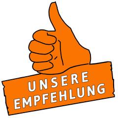 tus119 ThumbUpSign tus-v19 - Unsere Empfehlung - orange g2219