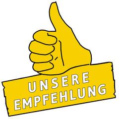 tus120 ThumbUpSign tus-v19 - Unsere Empfehlung - gelb g2220