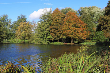 Early Autumn on the River Thames in England