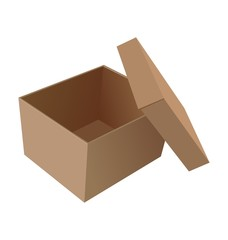 Realistic illustration isolated open box