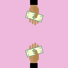 Hand with Dollar