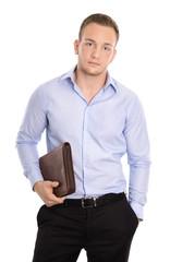 Junger dynamischer und erfolgreicher Geschäftsmann