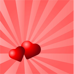Heart Shape On Glowing background