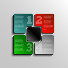 Infographic design 5 colorful element, concept step
