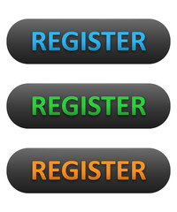 REGISTER Web Buttons Set (blue orange green subscribe)