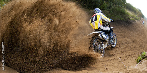 Staande foto Motorsport Rider driving in the motocross race