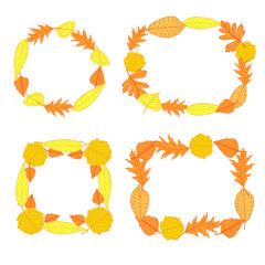 Autumn leaves frames