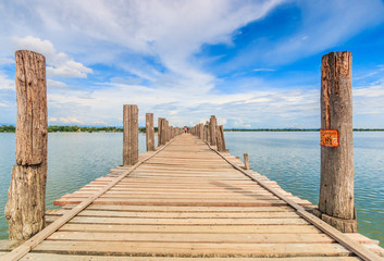 U bein bridge in Taungthaman lake, Amarapura, Myanmar