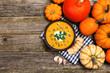 canvas print picture - Delicious pumpkin cream soup