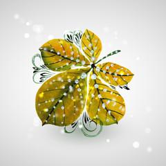 Желто-зеленый каштановый лист