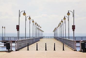 Pier in Jurata. Poland