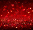 canvas print picture - christmas background - shining red glitter