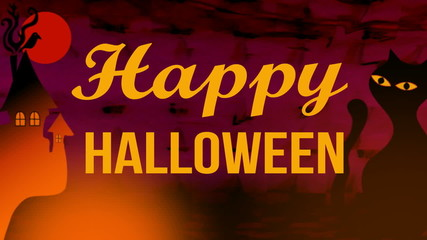 Happy Halloween animated.