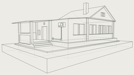 technical drawing of the gray house