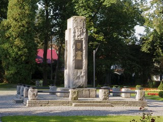 monument in park of USTRON