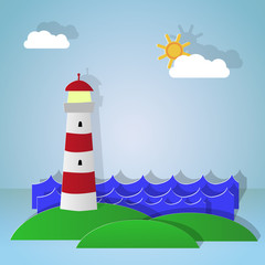 Maritime lighthouse. Day