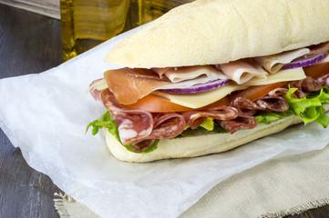 Italian Sub Deli Sandwich