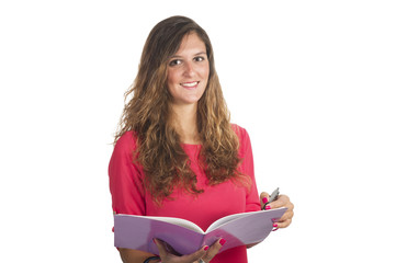 young attractive student girl