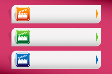 Flap movie hand drawn and design template vector.
