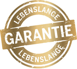 Button Gold Lebenslange Garantie