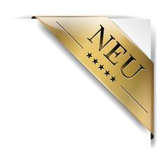 goldene banderole Neu auf weiß