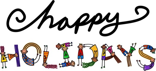 Happy Holidays Kids Title Text