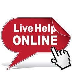 LIVE HELP ONLINE ICON
