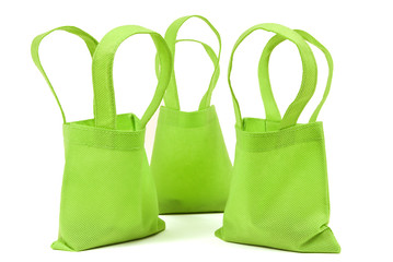 Green Neon Cloth Bags With Shadows