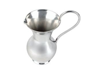 silver metallic jug