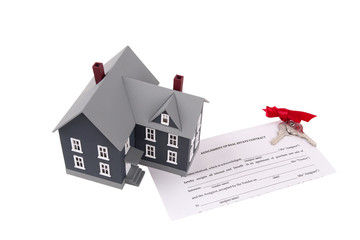 Plastic house document and keys